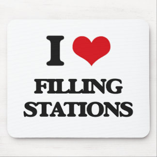 I love Filling Stations Mouse Mat