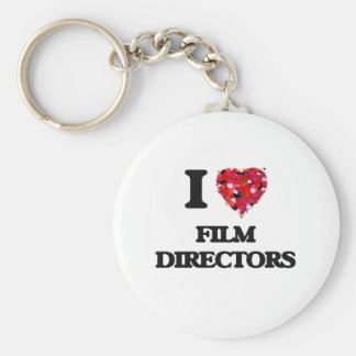 I love Film Directors Basic Round Button Key Ring