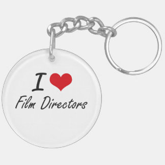 I love Film Directors Double-Sided Round Acrylic Key Ring
