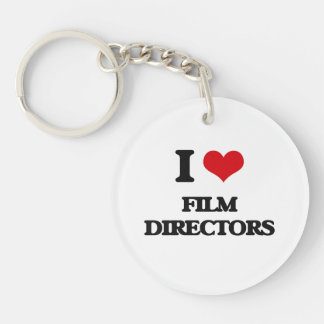 I love Film Directors Single-Sided Round Acrylic Key Ring