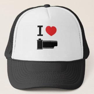 I love film trucker hat