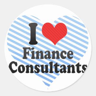 I Love Finance Consultants Round Sticker