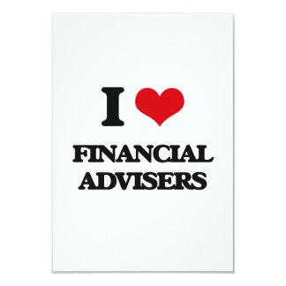 "I love Financial Advisers 3.5"" X 5"" Invitation Card"