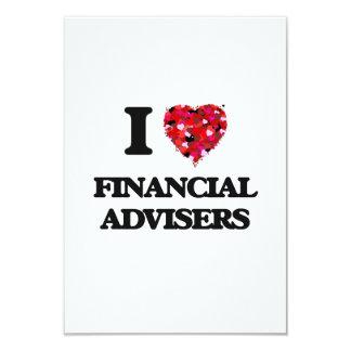 I love Financial Advisers 9 Cm X 13 Cm Invitation Card