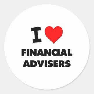 I Love Financial Advisers Sticker