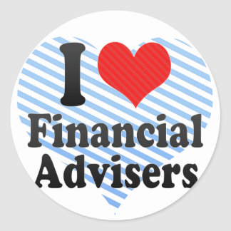 I Love Financial Advisers Stickers