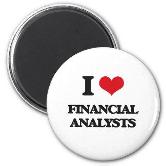 I love Financial Analysts Refrigerator Magnet