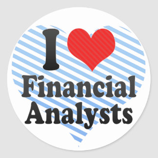 I Love Financial Analysts Round Stickers
