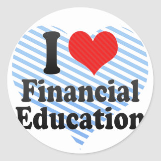 I Love Financial Education Stickers