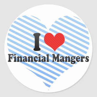 I Love Financial Mangers Sticker
