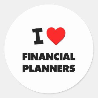 I Love Financial Planners Sticker