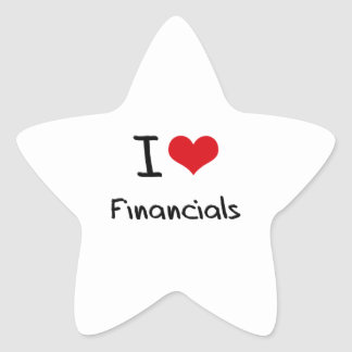 I Love Financials Sticker