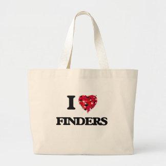 I Love Finders Jumbo Tote Bag