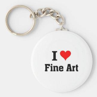 I love Fine art Key Chains