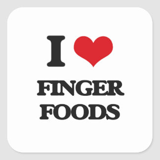 I love Finger Foods Square Sticker