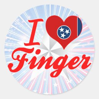 I Love Finger, Tennessee Round Sticker