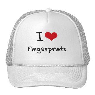 I Love Fingerprints Trucker Hat