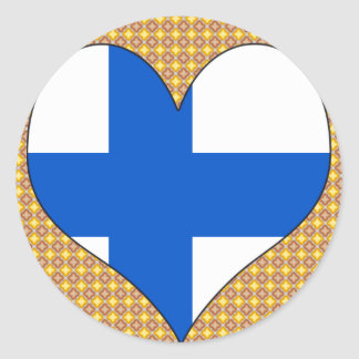 I Love Finland Classic Round Sticker