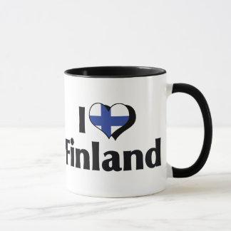 I Love Finland Flag Mug