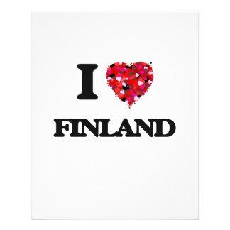 I Love Finland 11.5 Cm X 14 Cm Flyer