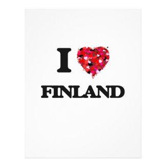 I Love Finland 21.5 Cm X 28 Cm Flyer