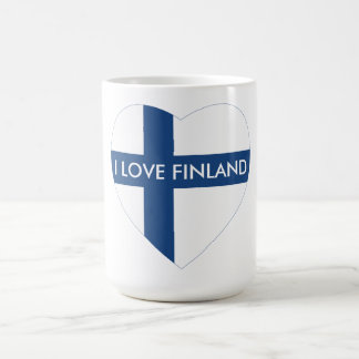 I LOVE FINLAND HEART COFFEE MUG