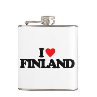 I LOVE FINLAND HIP FLASK