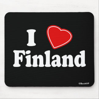 I Love Finland Mouse Mat