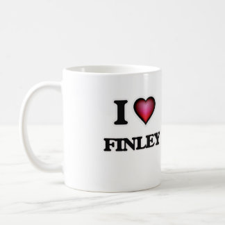 I Love Finley Basic White Mug
