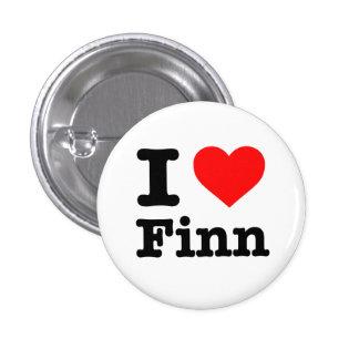 """I LOVE FINN"" 1.25-inch 3 Cm Round Badge"