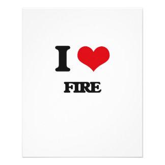 i LOVE fIRE 11.5 Cm X 14 Cm Flyer
