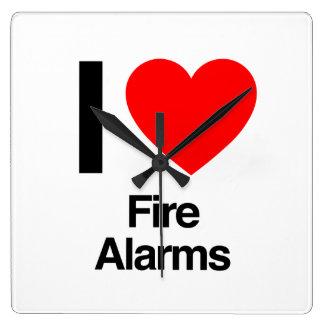 i love fire alarms clocks