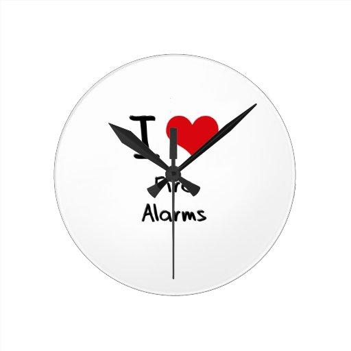 I Love Fire Alarms Wallclock
