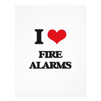 i LOVE fIRE aLARMS Custom Flyer