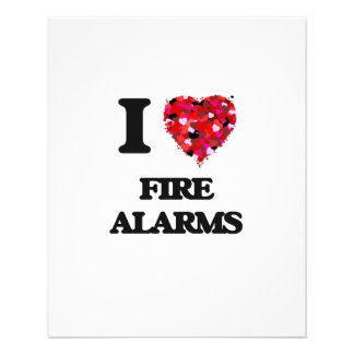 I Love Fire Alarms 11.5 Cm X 14 Cm Flyer
