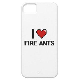 I love Fire Ants Digital Design iPhone 5 Case