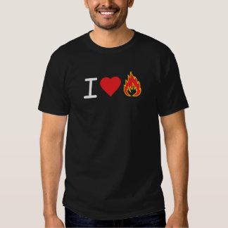I Love Fire T Shirts