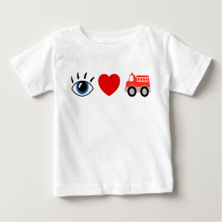 I Love Fire Trucks! Baby T-Shirt