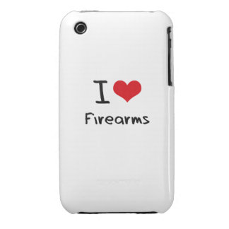 I Love Firearms iPhone 3 Case