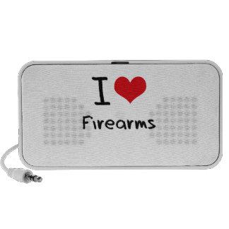 I Love Firearms Laptop Speaker