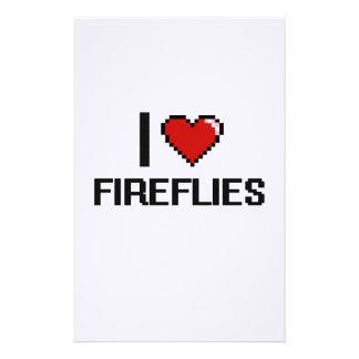 I love Fireflies Digital Design Custom Stationery