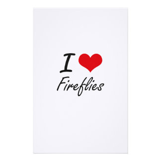 I love Fireflies Personalised Stationery
