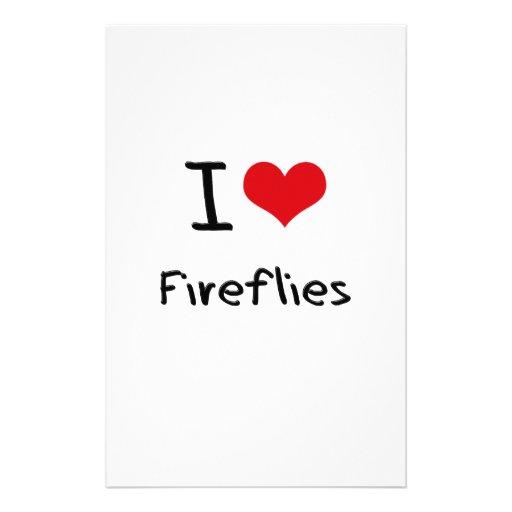 I Love Fireflies Stationery