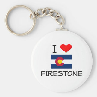 I Love FIRESTONE Colorado Basic Round Button Key Ring