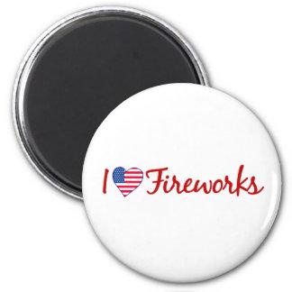 I Love Fireworks 6 Cm Round Magnet