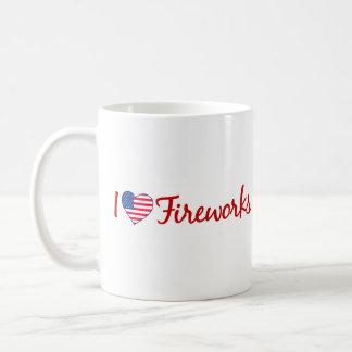 I Love Fireworks Basic White Mug