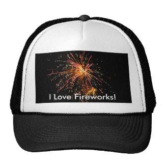 I Love Fireworks! Cap