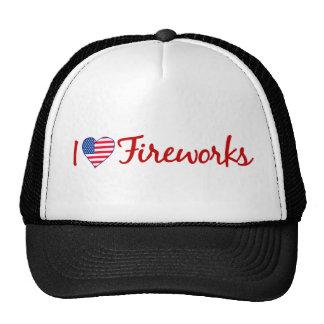 I Love Fireworks Cap