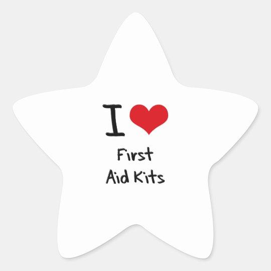 I Love First Aid Kits Star Sticker