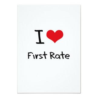 "I Love First Rate 5"" X 7"" Invitation Card"